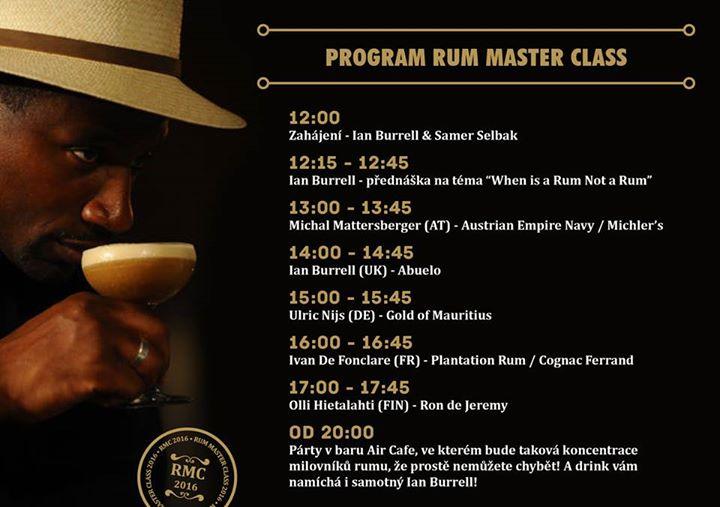 Přátelé, program Rum Master Class Brno 2016 je konečně venku! Odpoledne doslova